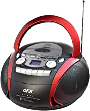 QFX J-23 Portable Bluetooth Am/FM Stereo Radio with CD/MP3/USB/Cassette Player