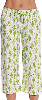 Just Love - Pijama capri para mujer, 100% algodón