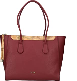 ALVIERO MARTINI Shopping Bag in Pelle Plum