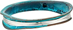 Wire Wrapped Patina Bangle Bracelet