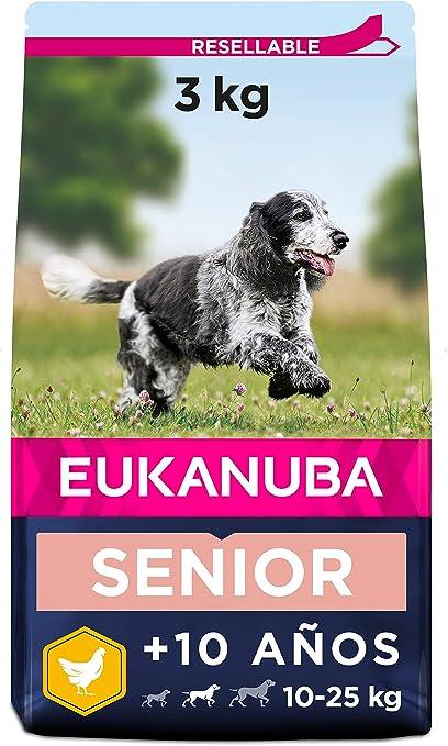 Eukanuba Alimento seco para perros viejos de razas medianas con pollo 3 kg