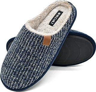 شباشب رجالي من ONCAI مريحة من إسفنج ميموري فوم سهل الارتداء أحذية منزلية دافئة داخل المنزل/خارجه مع أفضل قوس قزح بمقاس 7-13