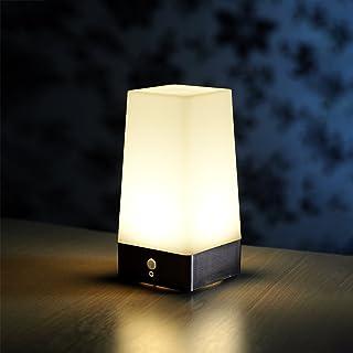 Lampe de table sans fil d'Auraglow avec détecteur de mouvement à infrarouge (PIR) et ampoules super brillante à DEL (LED) ...