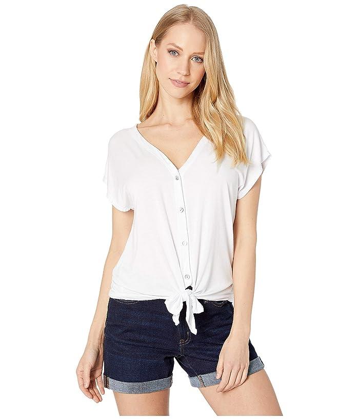 LAmade Tango Tie Top (White) Women's T Shirt