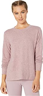 ALO Glimpse Long Sleeve Top Dusted Plum Heather SM