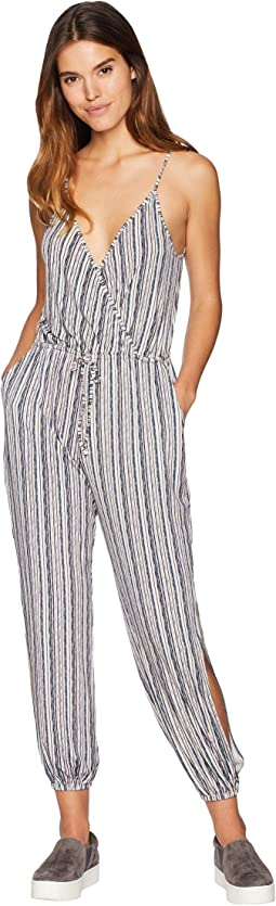 Tie Shoulder Surplice Jumpsuit