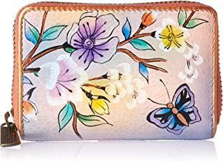 Credit Card & Business Card Holder - Genuine Leather, Hand-painted Original Artwork - Holds 11 cards