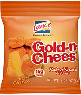 Lance Gold-N-Cheese Baked Snack Crackers, Single-Serve 1.25 Ounce (Pack of 60)