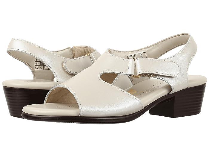 Vintage Sandals | Wedges, Espadrilles – 30s, 40s, 50s, 60s, 70s SAS Suntimer Pearl Bone Womens Shoes $128.95 AT vintagedancer.com