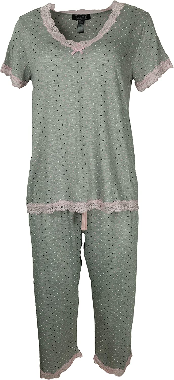 International Intimates Women's Capri Pants Pajama Set