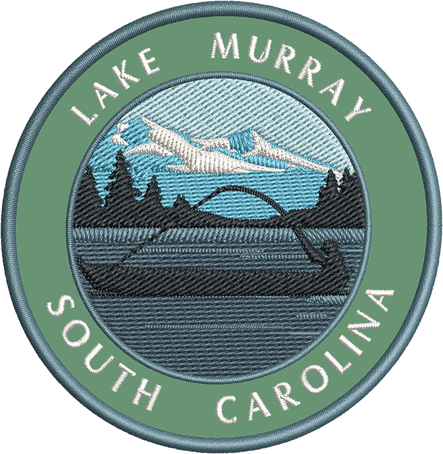 Bass Fishing Lake Murray Recommended South or OFFer Embroidered DIY Iron Carolina