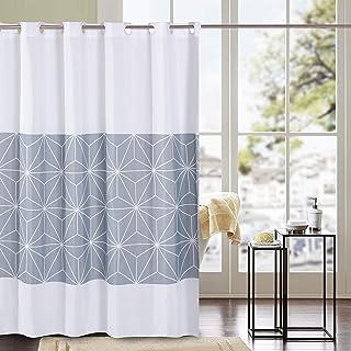 HUIEI Hookless Shower Curtain 72x72 Inches,No Snap in Liner, Waffle Weave Waterproof Rustproof Hotel Toilet Bathroom Curta...