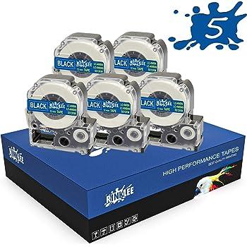 12 mm x 8 m 10 Cassette RINKLEE LC-4WBN LC-4WBN9 Nero su Bianco Nastro per Etichette Compatibile con Epson LabelWorks LW-300 LW-300L LW-400 LW-500 LW-600P LW-700 LW-900P LW-1000P KingJim Tepra Pro