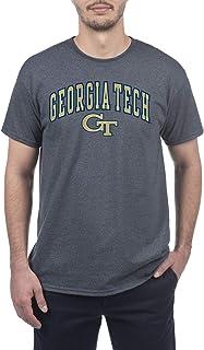 Elite Fan Shop Georgia Tech Men's Short Sleeve Charcoal Gray Arch Tee, X-Large