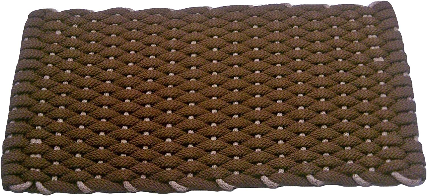 Rockport Rope Doormats 2438201 Indoor & Outdoor Doormats, 24  x 38 , Brown Grey