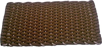 Rockport Rope Doormats Kitchen Comfort Mats, Fabric, Brown with Tan Insert, 20 by 38-Inch