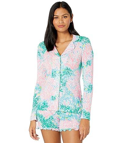 Lilly Pulitzer Pj Knit Long Sleeve Button-Up Top (Multi Stargazer) Women