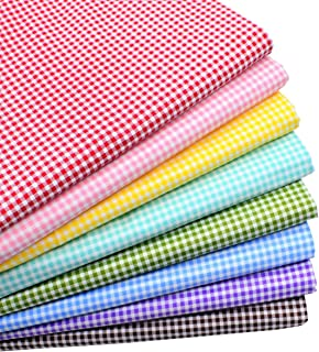 iNee Gingham Fat Quarters Fabric Bundles, Quilting Fabric for Sewing Crafting, 18 x 22 inches, (Gingham)