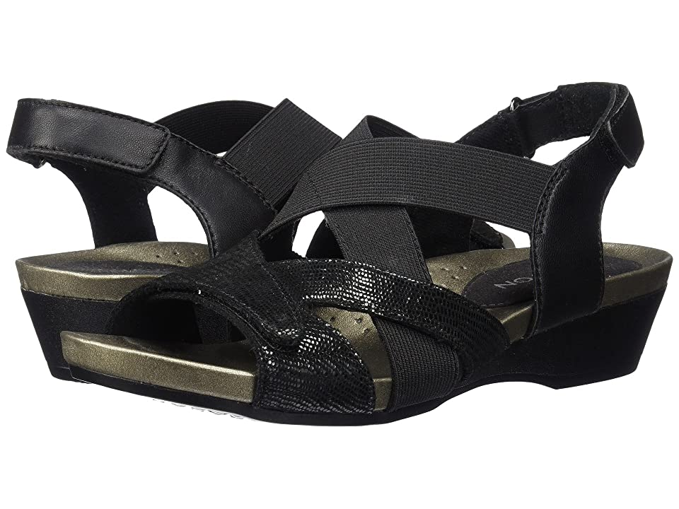 Aravon Standon X Strap (Black) Women