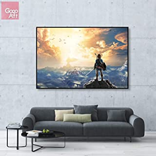 GoGoArt ROLL Canvas Print Wall Art Home Decor Photo Poster (no Framed no Stretched not Oil Painting) Nintendo Legend of Zelda Breath of The Wild 2019 Link Video Game Switch A-0277-1.5 (16 x 24 inch)