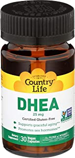 Country Life DHEA, 25 mg - 30 Vegetarian Capsules