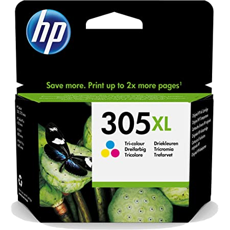 HP 3YM63AE 305XL High Yield Original Ink Cartridge, Tri-color, Single Pack