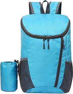 20L خفيفة الوزن قابلة للطي حقيبة طارد للماء لركوب الدراجات والتخييم تسلق المشي لمسافات طويلة السفر المدرسة هوجي