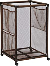 Essentially Yours Rolling Pool Storage Organizer Bin, Large, Brown