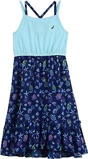 Little Girls' Patterned Sleeveless Dress