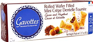 Gavottes Gourmet French Filled Mini Crepes - with Rich Chocolate Hazelnut Filling | An Irresistible All-Natural Treat Made in the Authentic French Tradition
