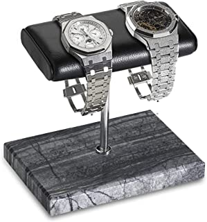 Handcrafted Leather & Marble Watch Display Stand for Rolex, Omega, Patek Philippe, Audemars Piguet, Richard Mille, Breitli...
