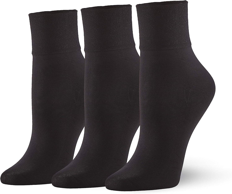 HUE womens Sleek Trouser Sock 3 Pair Pack