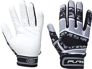 Pure Athlete Baseball Batting Gloves – Premium Leather Adult Glove – Black Camo Enhanced Grip