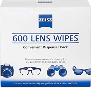 Zeiss Pre-Moistened Lens Cleaning Wipes - Cleans Bacteria, Germs and without Streaks for Eyeglasses and Sunglasses-(600 Count)