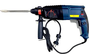 Jon Bhandari Tools Reversible Rotary Hammer Drill Machine 26mm 800W 900RPM with 5 SDS Drill Bit, 2 Carbon & SDS Adapter Heavy Duty