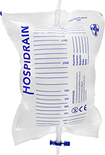 AIESI® Bolsas de orina de 2 litros Tubo 120 cm con Descarga