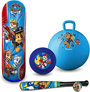 Hedstrom Paw Patrol Gift Bundle Includes Hopper Bop Bag Playground Ball and Foam Bat and Ball