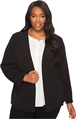 Vince Camuto Specialty Size Plus Size Milano Twill Open Front Blazer