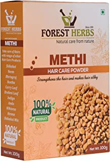 Forest Herbs 100% Natural Organic Fenugreek Methi Powder For Hair - 100 Grams
