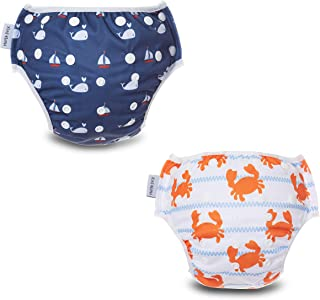 MAMA DUCK Reusable, Adjustable and Washable Baby Swim Diaper. (8-35lbs) 2 Packs
