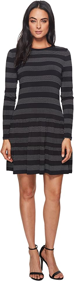 MICHAEL Michael Kors - Striped Dot T-Shirt Dress