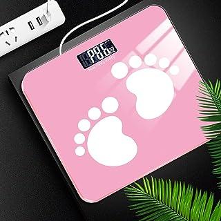 Básculas de grasa corporal USB Baño Grasa Cuerpo Báscula Digital Peso Humano Mi Básculas de Pantalla de Piso Índice de Cuerpo Electrónico Inteligente Báscula de Pesaje Rosa 2