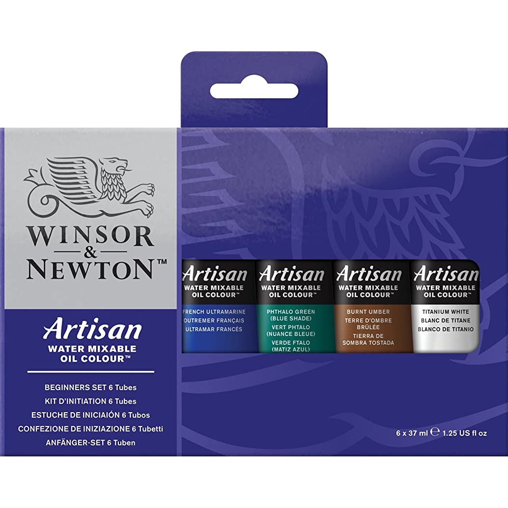 Winsor & Newton Artisan Water Mixable Oil Colour Beginners Set, Six 37ml Tubes