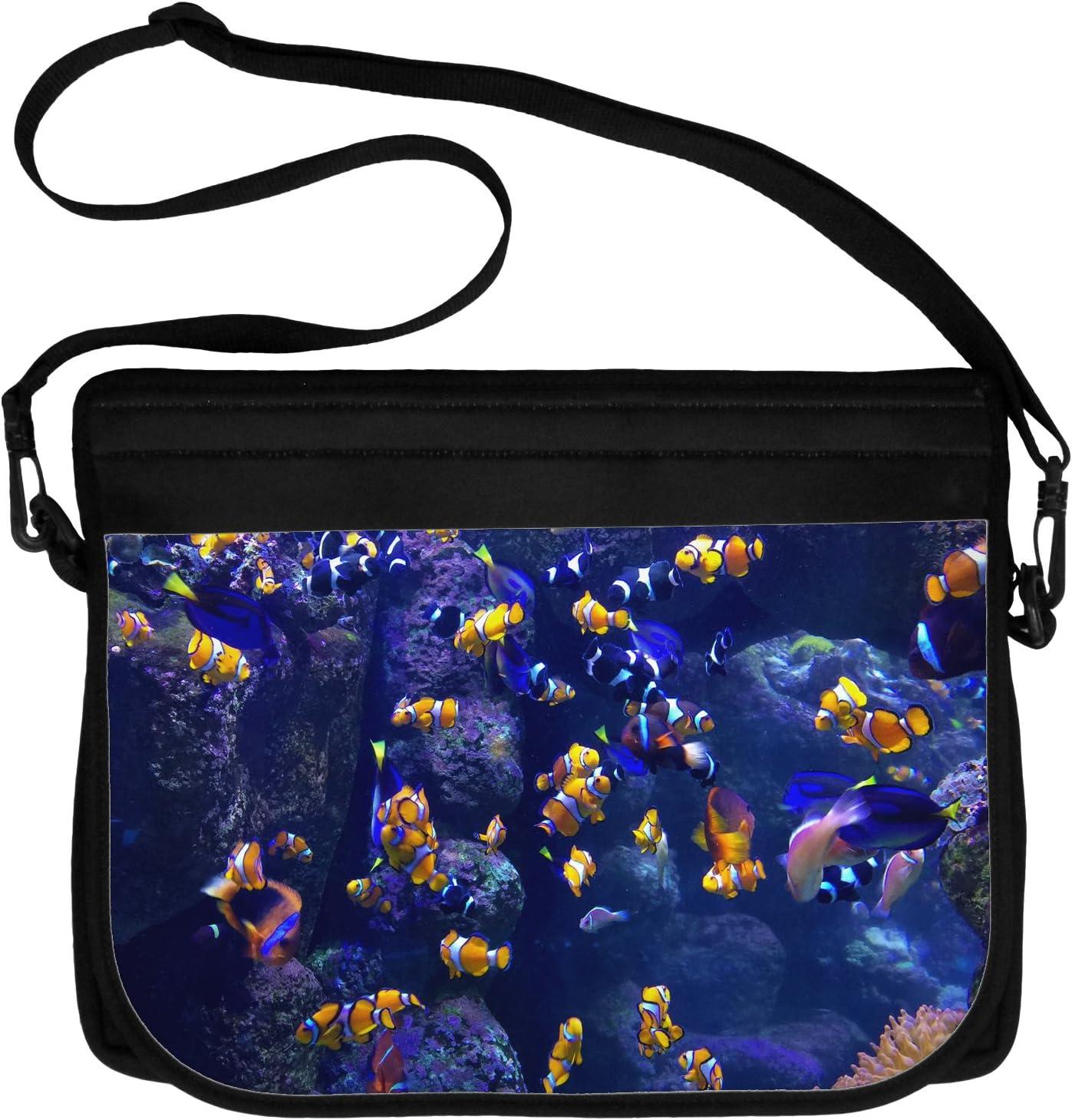 TooLoud Underwater Ocean View Clownfish Neoprene Laptop Shoulder Bag All Over Print