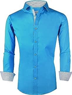 Joey CV Mens Casual Button Down Shirts Long Sleeve Regular Fit Men Shirt