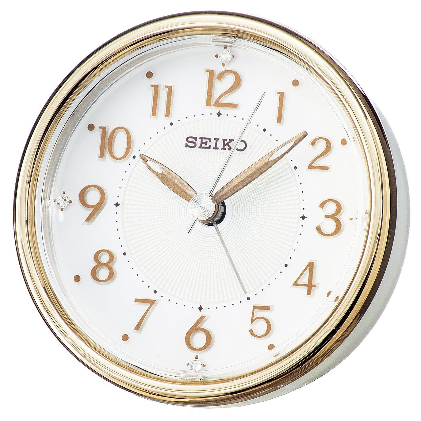テンポ喜び直感セイコー クロック 目覚まし時計 アナログ ELバックライト 銅色 KR897B SEIKO