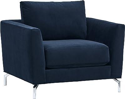 "Amazon Brand – Rivet Emerly Modern Living Room Chair, 41""W, Navy"