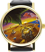 Desert Falcon Game Program Watch Vintage Style Watch (Brown)