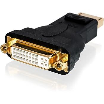 CSL-Computer Full HD 1080p Premium DisplayPort DP auf DVI Adapter - Zertifiziert - kompatibel mit Grafikkarten Apple und PC