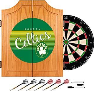 NBA Boston Celtics Wood Dart Cabinet Set, One Size, Brown